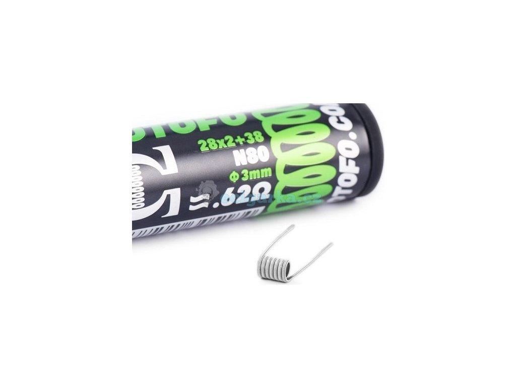 pack de 10 coils dual core fused clapton ni80 28x238 wotofo