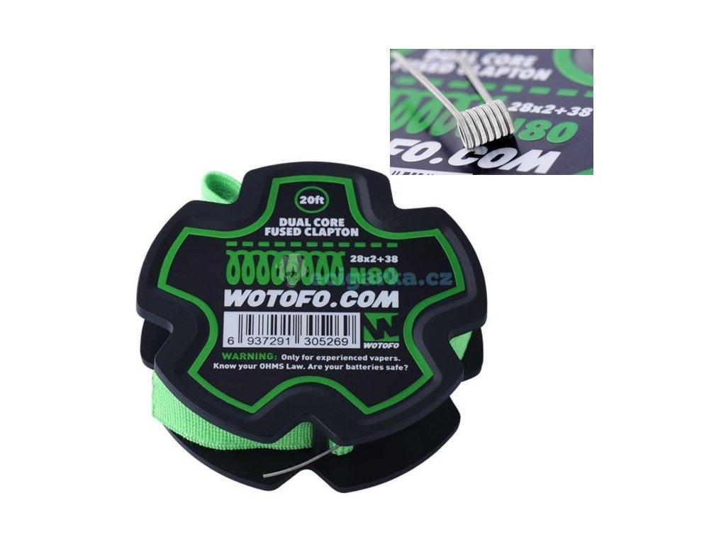 dual core fused clapton 28g238g ni80 wire 20 feetspool wotofo