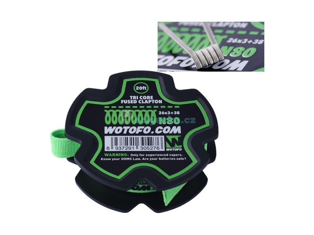 tri core fused clapton 26g338g ni80 wire 20 feetspool wotofo