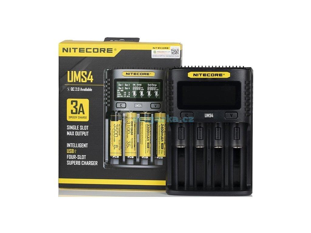 nitecore ums4 charger uk box