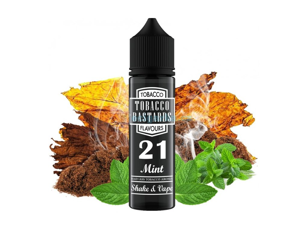 prichut flavormonks tobacco bastards shake and vape 12ml no21 mint