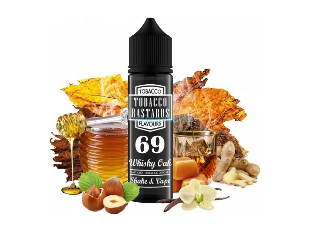 prichut flavormonks tobacco bastards shake and vape 12ml no69 whiskey oak