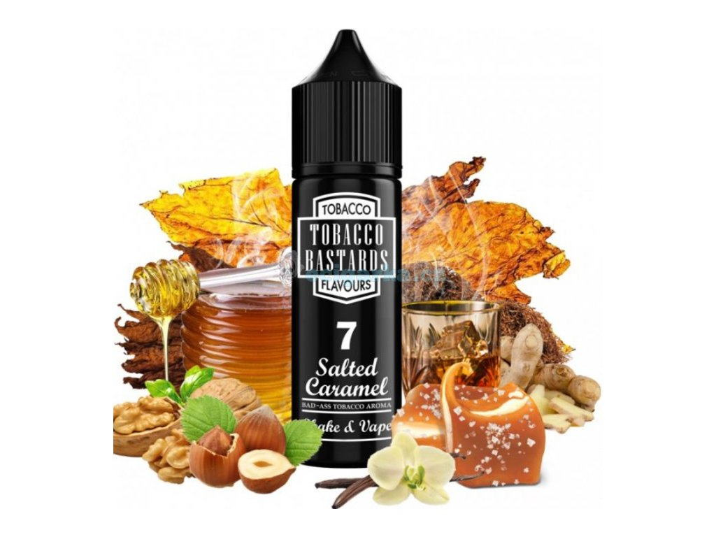 prichut flavormonks tobacco bastards shake and vape 12ml no07 salted caramel tobacco