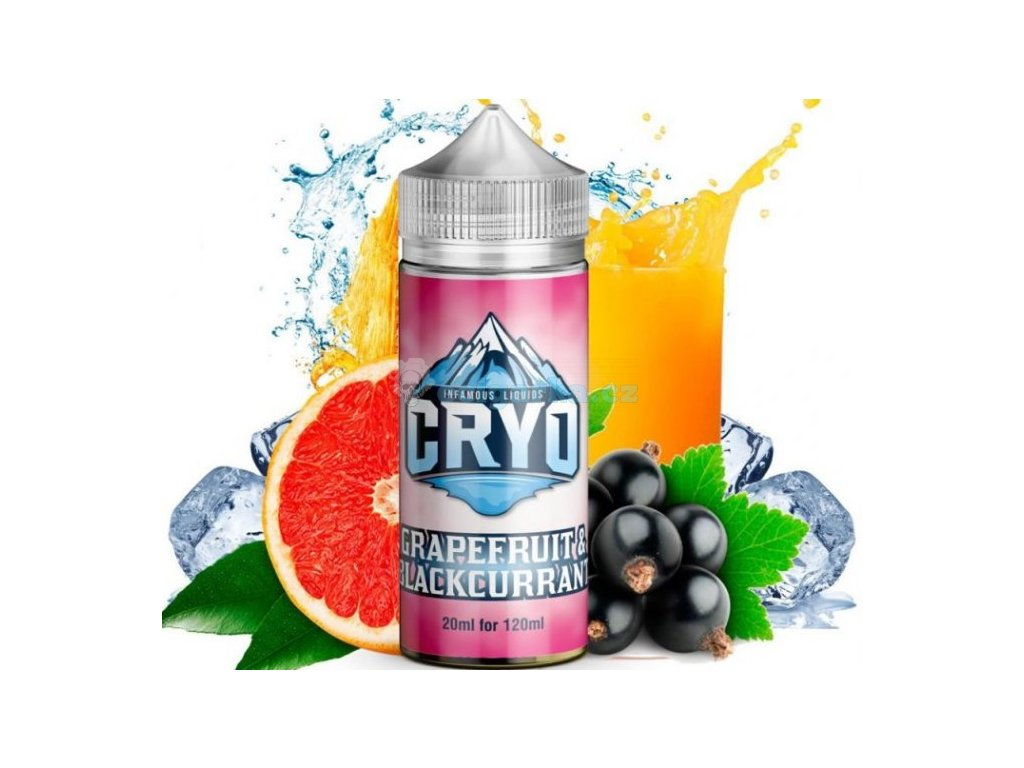 prichut infamous cryo shake and vape 20ml grapefruit and blackcurrant