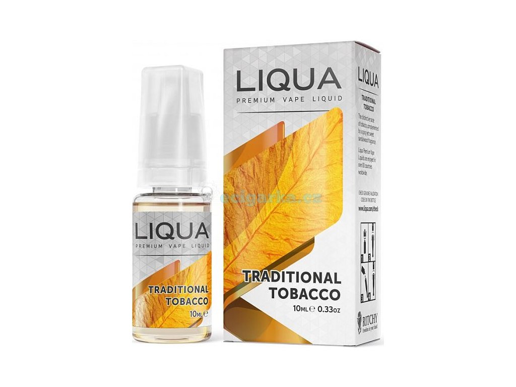 liquid liqua cz elements traditional tobacco 10ml0mg tradicni tabak