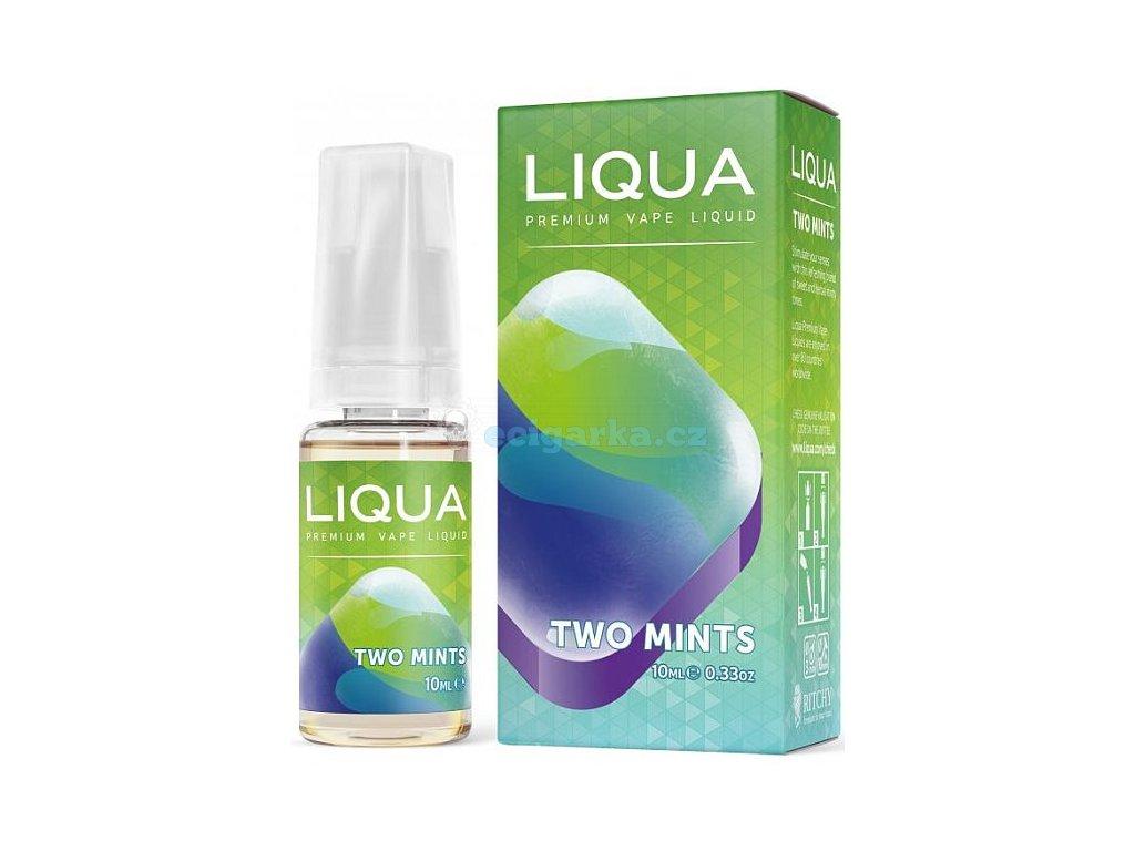 liquid liqua cz elements two mints 10ml0mg chut maty a mentolu