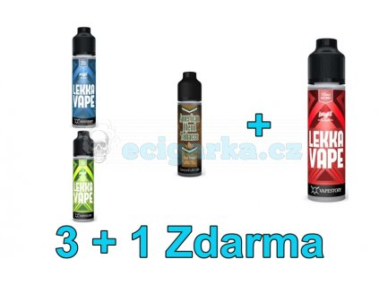 Akce liquidy 3+1 Lekka Vape