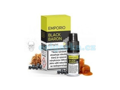 6096 emporio salt liquid 10ml black baron