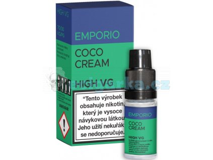liquid emporio high vg coco cream 10ml 0mg