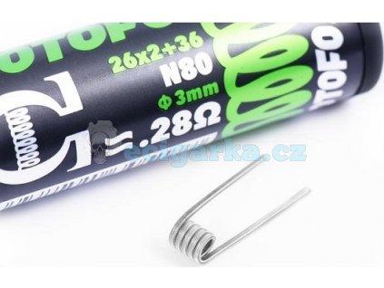 pack de 10 coils dual core fused clapton ni80 26x236 wotofo