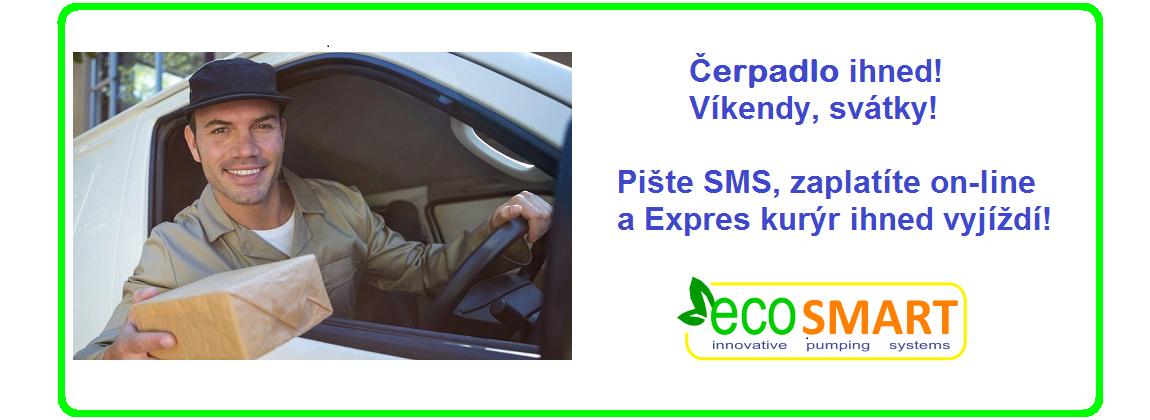EcoSmart Expres kurýr čerpadlo ihned