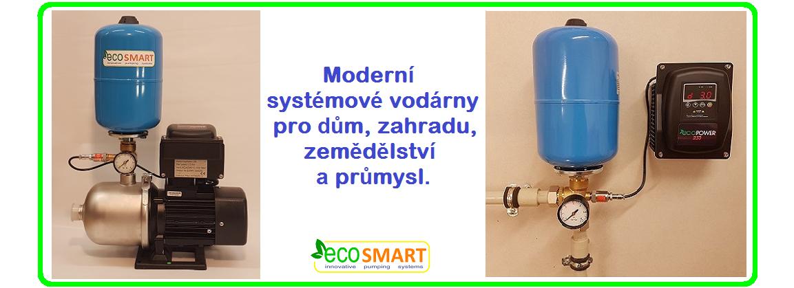 EcoSmart moderní systémové vodárny pro vrty, studny a posílení tlaku