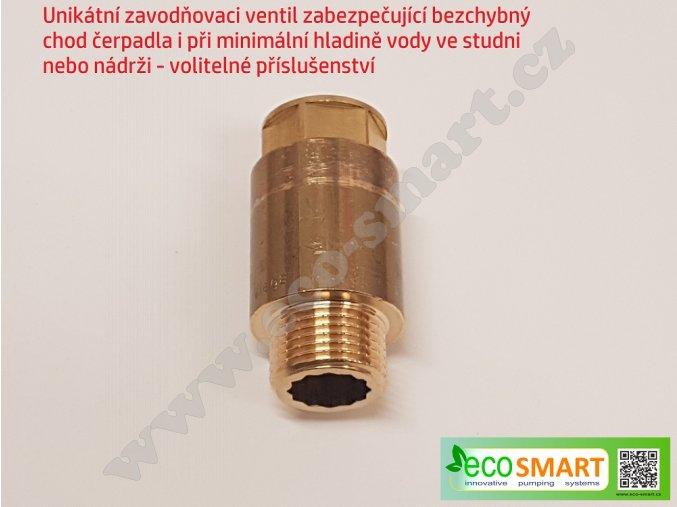 unikátní ventil pro ponorné čerpadlo vodárny EcoSmart