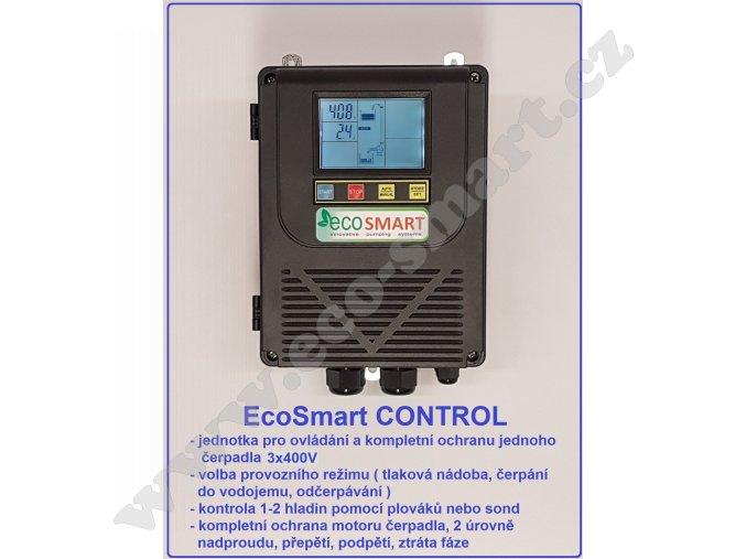 EcoSmart CONTROL 400V pro ovládání a ochranu jednoho čerpadla 3x400V