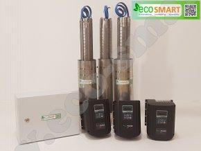 Automatická tlaková stanice s ponornými čerpadla ECO4 a frekvenčními měniči EcoPower