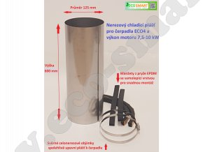 chladící plášť pro ponorná čerpadla a motory výkonu 7,5 10 kW
