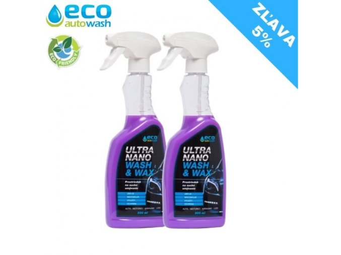 2X 500ml Ultra Nano Wash&Wax