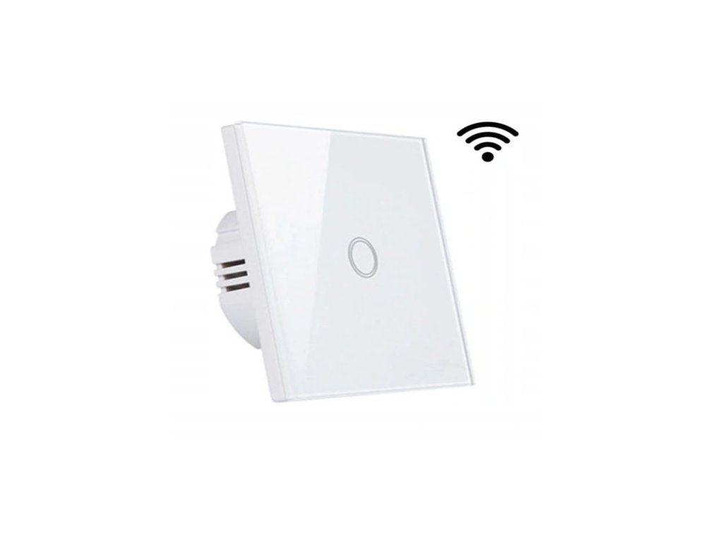 wlacznik pojedynczy wifi bialy