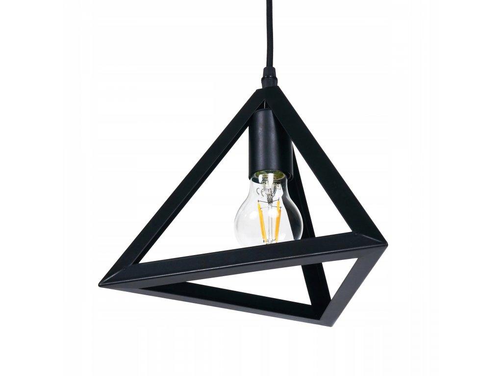 Lampa sufitowa zyrandol LED 1x E27 trojkat B7054C