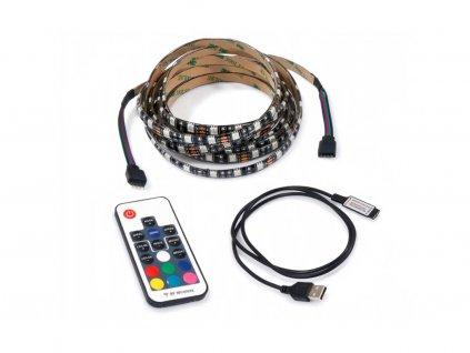 LED pásek za TV - 5V - 5m - 60LED/m - 72W - IP20 - RGB - dálkové ovládání
