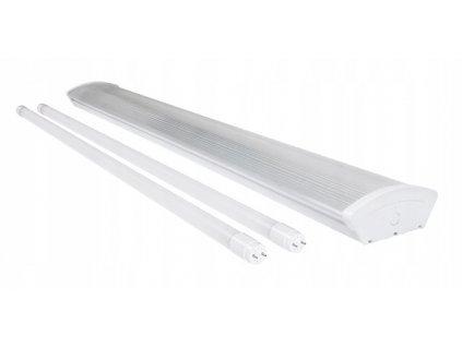 Oprawa ze swietlowkami LED T8 2x 120cm PRISMATIC