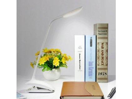 Lampka biurkowa LED szkolna nocna 3W klips 8514 Dlugosc wysokosc 56 cm