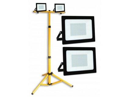 Naswietlacz halogen LED 2x 50W EC statyw budowlany