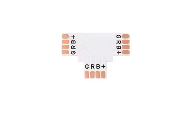BERGE Spojka pro RGB LED pásky - T - CN13 - 10mm - 4pin