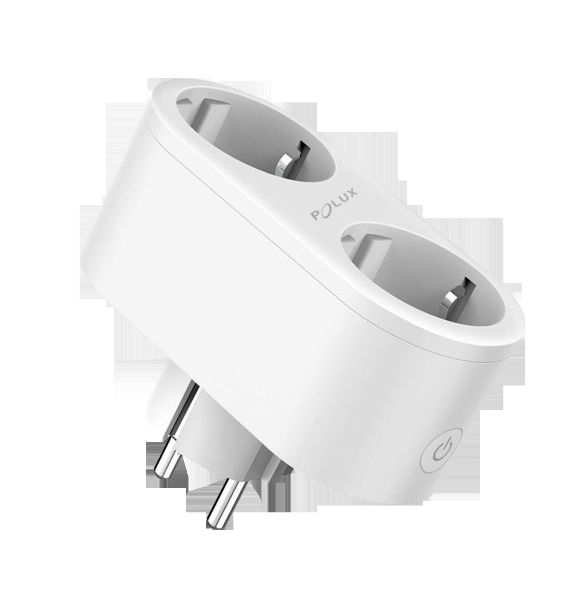 POLUX Chytrá dvojitá zásuvka SMART 3680W/230V/16A Wi-Fi Tuya