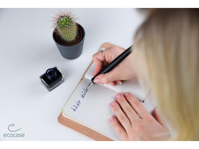 Hynek - malý kožený zápisník - přírodní