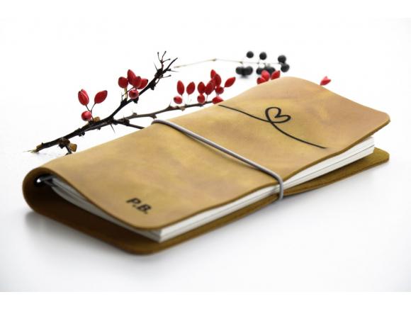 kožený zápisník ecocase