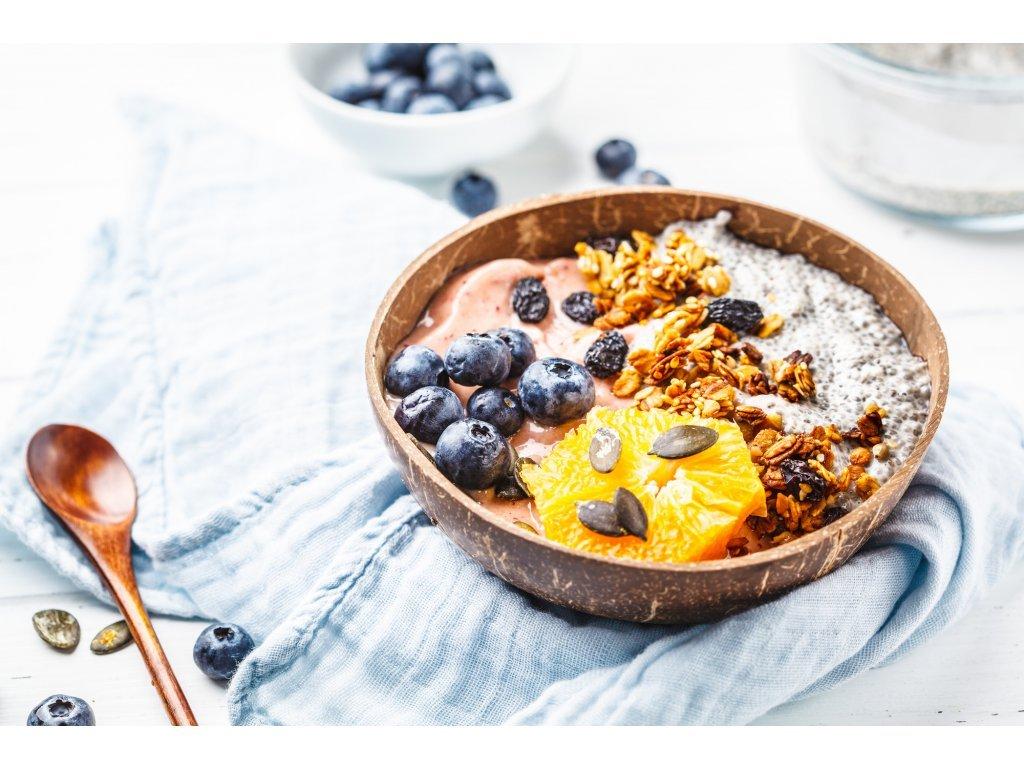 Balíček coconut: kokosová miska, vidlička a lyžička
