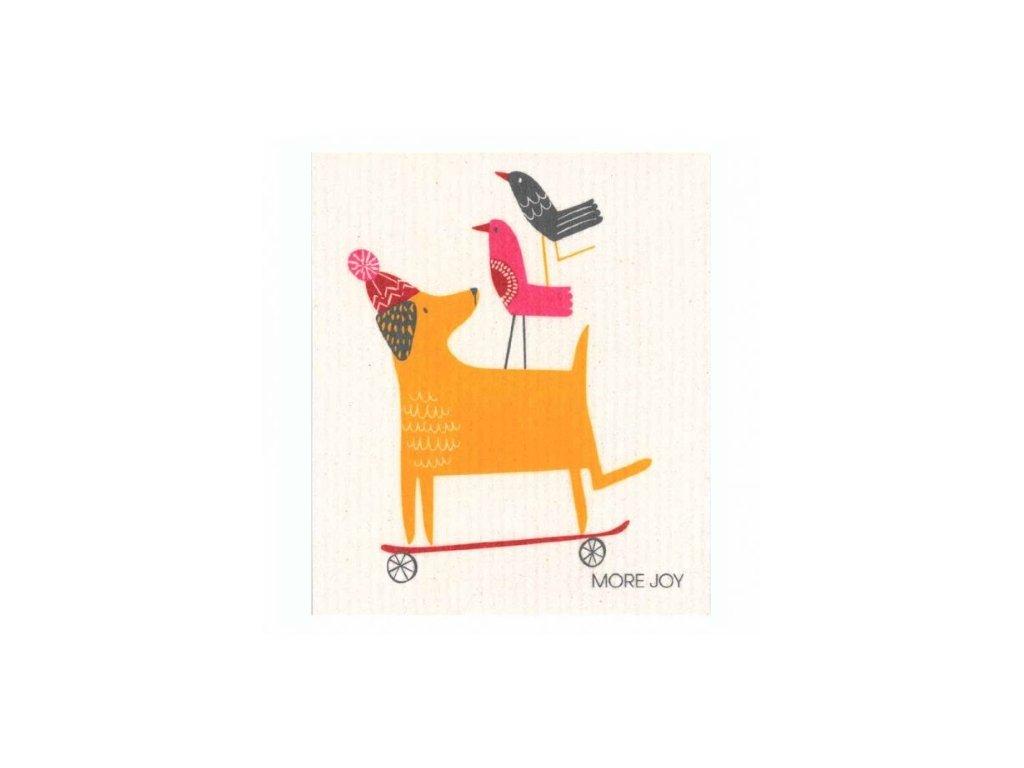 Prateľná hubková handrička More Joy - Pes
