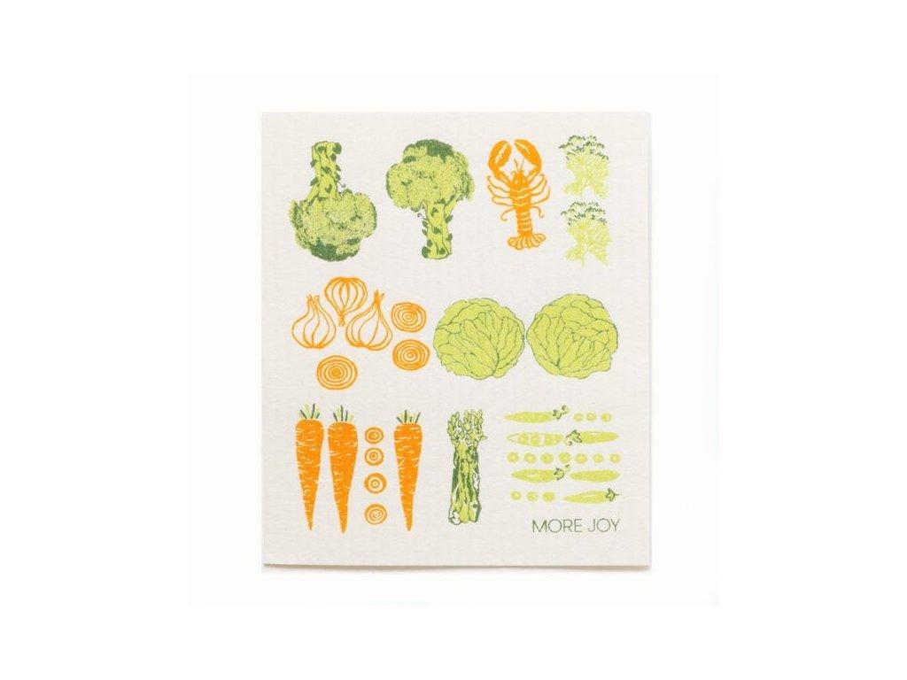Prateľná hubková utierka More Joy - Zelenina