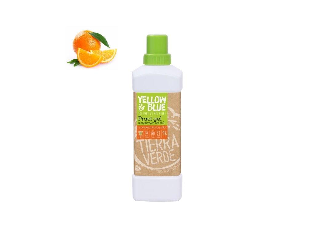 Prací gél z mydlových orechov s pomarančovou silicou 1 l