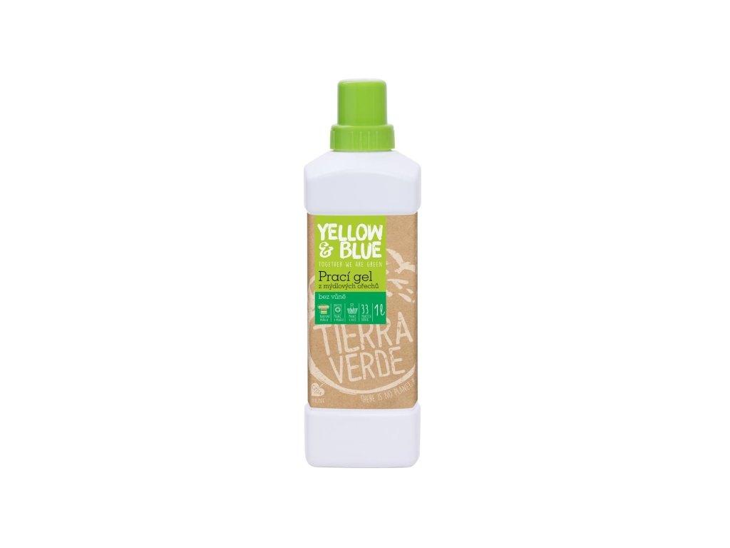 Prací gél z mydlových orechov bez vône 1 l