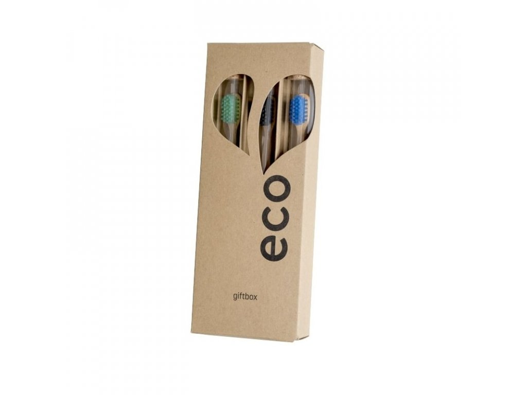 Ecoheart: Darčekové balenie kefiek 3 ks