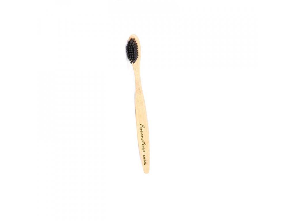 Curanatura Carbon bambusová zubná kefka soft