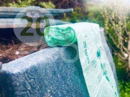 Kompostovateľné sáčky BioBag s ušami na bioodpad 20 l, 25 ks
