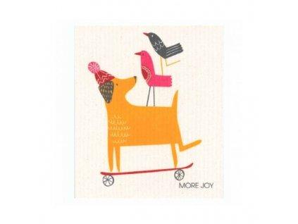 Prateľná hubková utierka More Joy - Pes
