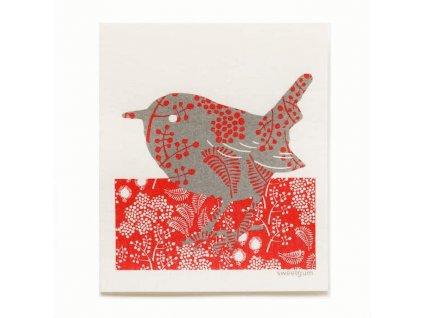 Prateľná hubková utierka More Joy - Vtáčik
