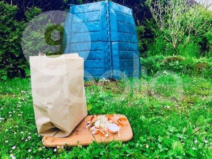 Kompostovateľné papierové vrecká Tierra Verde na bioodpad 9 l, 30 ks