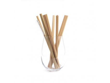 bambusove slamky a kefka