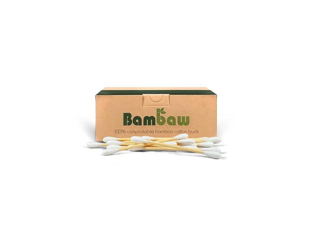 Bamboo Vatové tyčinky do uší z bambusu a bavlny (Barva 200ks)
