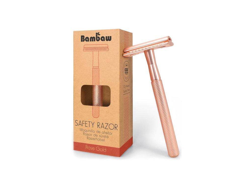 BamBaw Metalický holící strojek (Barva růžové zlato)