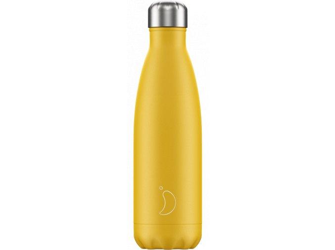 Nerezová fľaška Chilly's Matte Burnt Yellow
