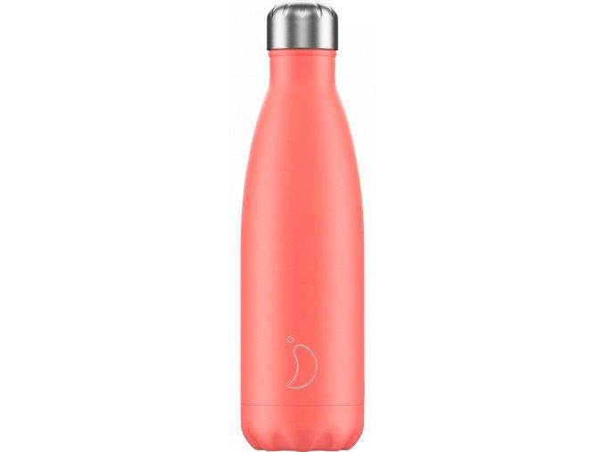 Nerezová fľaška Chilly's Pastel Coral