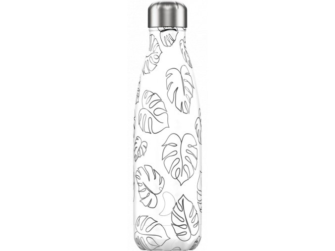 Nerezová fľaška Chilly's Line Art Leaves