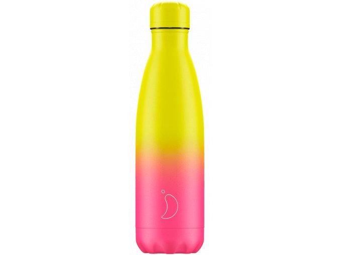 Nerezová fľaška Chilly's Gradient Neon