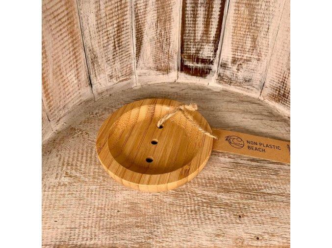 Bambusová kúpelňová miska - okrúhla